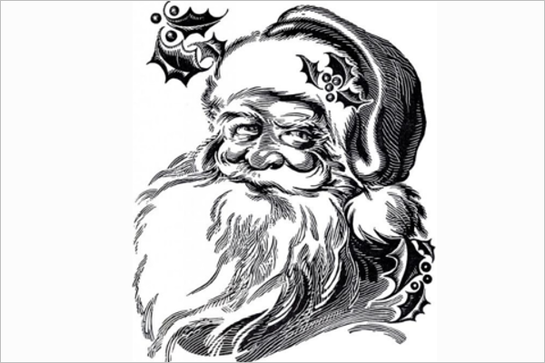 Best Santa Claus Drawing Design
