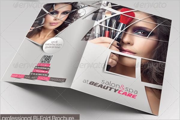 Bifold Beauty Parlour Brochure Template