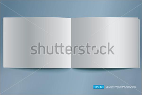 Bifold Blank Brochure Template