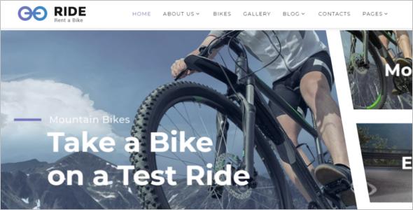 Bike SuppliesWebsite Template