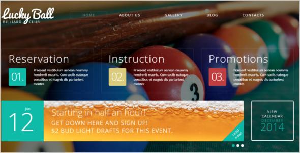 Billiards Drupal Template