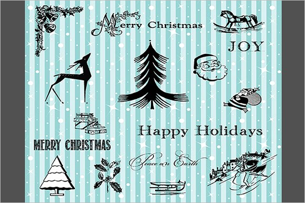 Black Christmas Elements Design