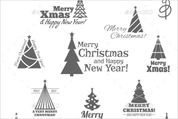 Black Christmas Stamp Design