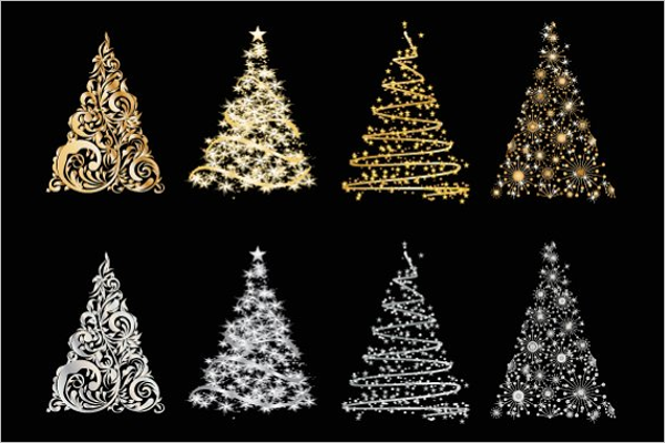 Black Christmas Tree Decoration Pack