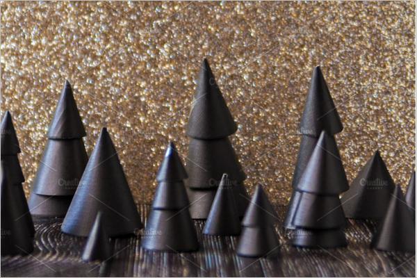 Black Christmas Tree Design