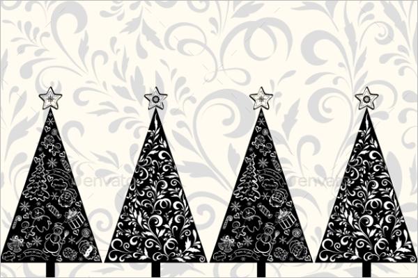 Black Christmas Tree Illustrator