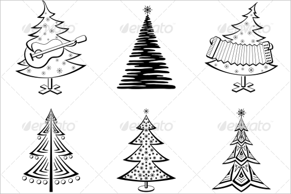 Black Christmas Tree Template
