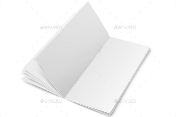 Blank Brochure Layout Design