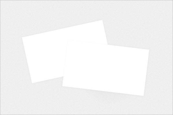 blank business card mockup template
