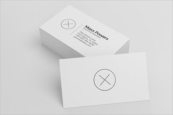 Blank Business Card Templates Free Word PSD Designs Creative - Plain business card template