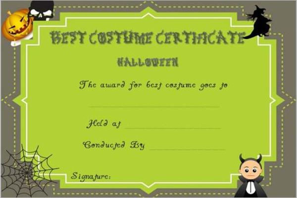 Blank Halloween Certificate Template