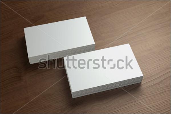 Blank business Card Template Illustrator