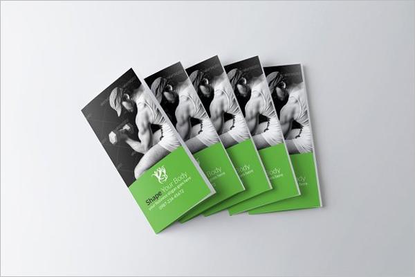Body Fitness Tri Fold Brochure Design