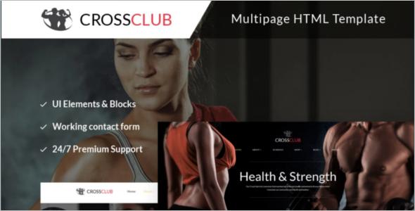Bodybuilding Training Website Template