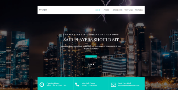 Bootstrap Free Website Template