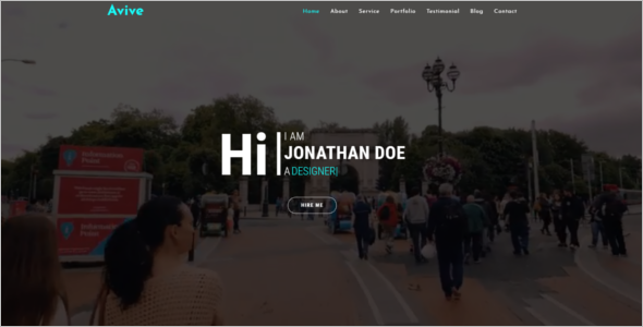 Bootstrap Portfolio Website Template