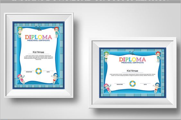 Bronze Swimming Certificate Template