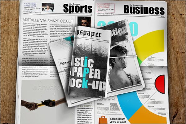 Buissness Newspaper Mockup Template