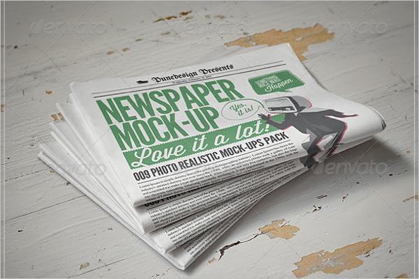 Bundle Of Newspaper Mockup