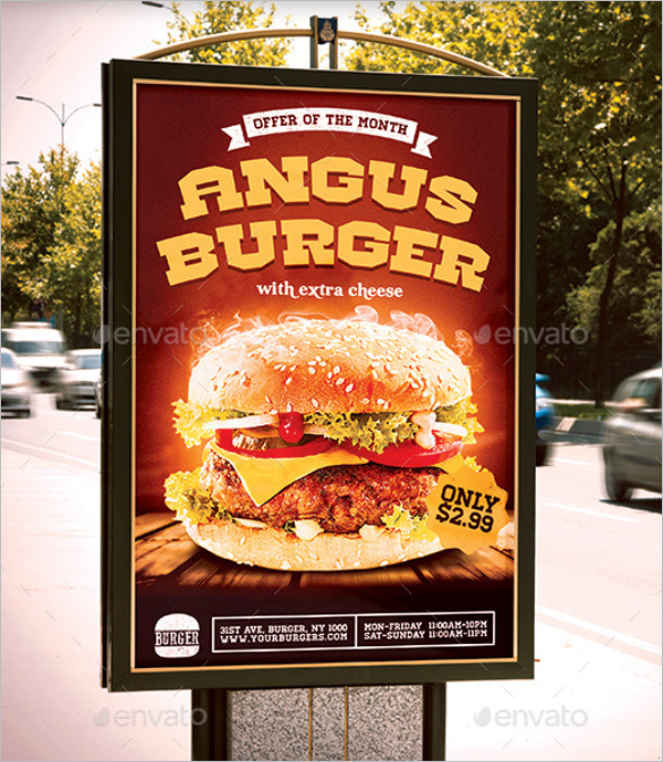 Burger Advertise Poster Design