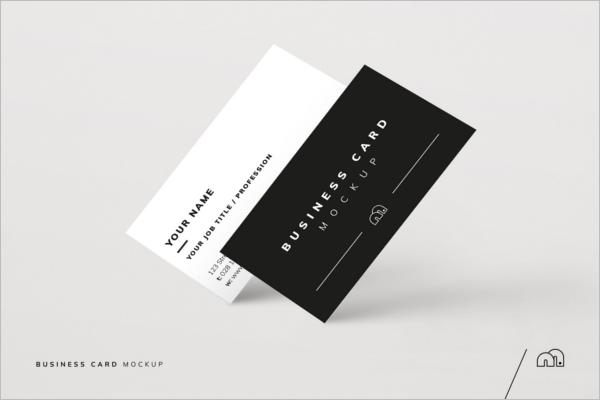Business Card Portfolio Mockup