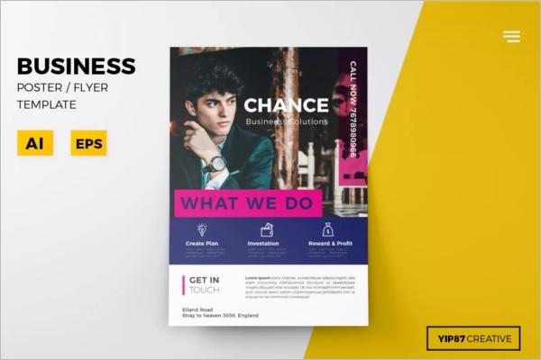 Business Man Poster Template