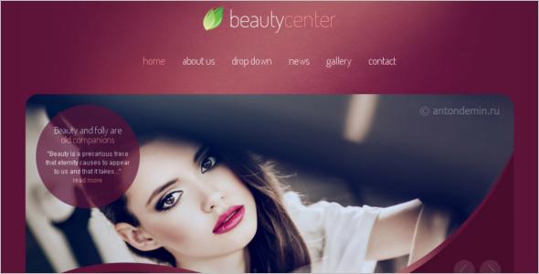 CSS Beauty Website Template