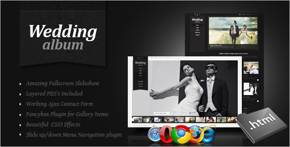 CSS Wedding Website Template