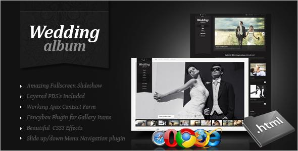 CSS Wedding Website Template
