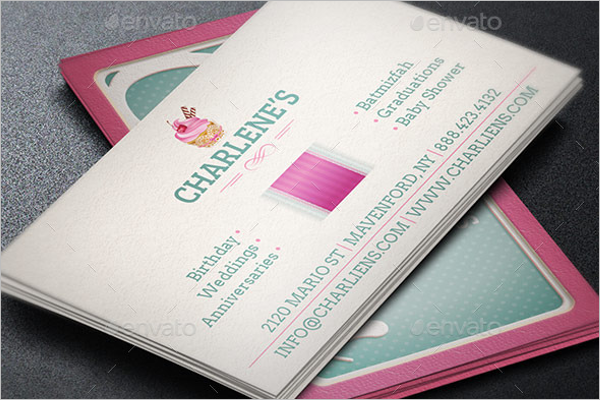 Cake Shaped Business Card