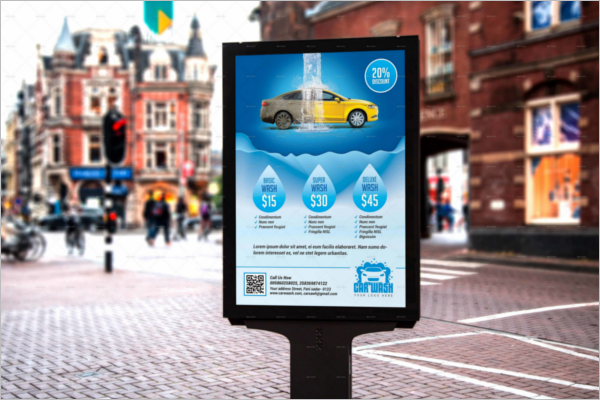 Car Advertising Poster Template