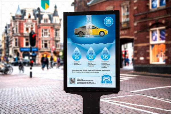 Car Advertising Poster Template