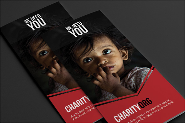 Charity Kids Brochure Template