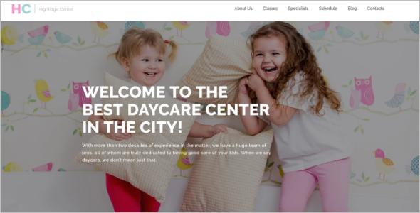 Child Center WordPress Theme