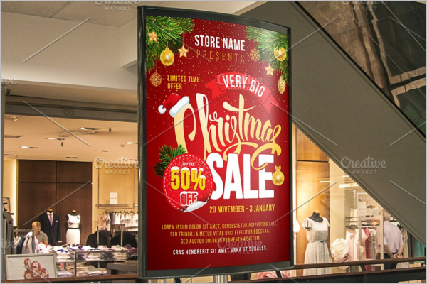 Christmas Advertise Poster Template