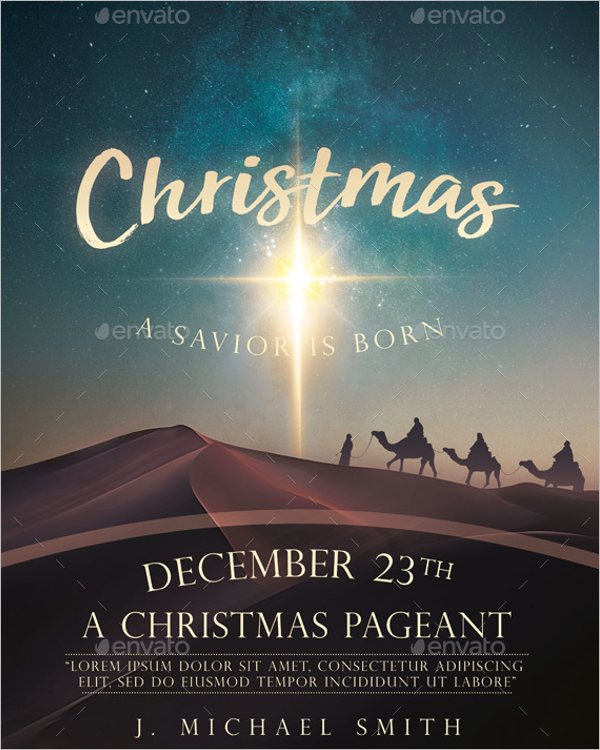 Christmas Church Poster Template
