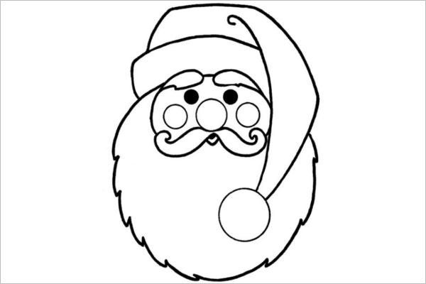 Christmas Coloring Template
