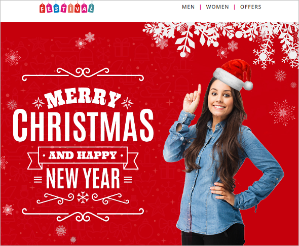 Christmas Decoration Website Theme