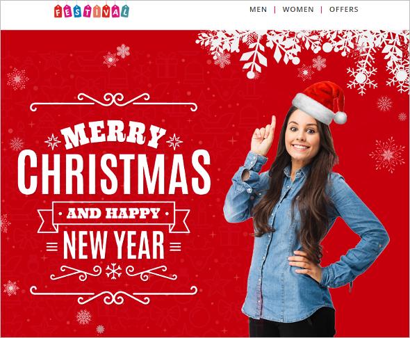 Christmas Decoration Website Theme