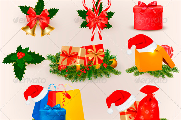 Christmas Elements Vector PNG
