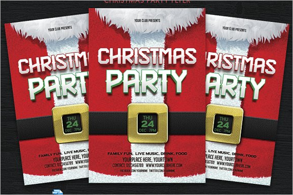 Christmas Eve Party Vector Design