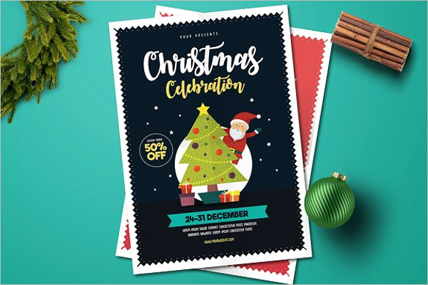 Christmas Event Invitation Card PSD