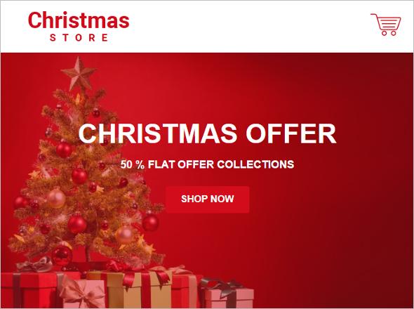 Christmas Greeting HTML Template