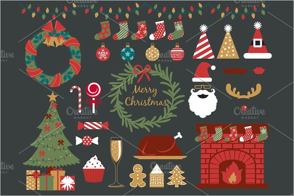 Christmas Party Elements Design
