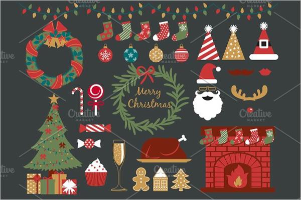 Christmas Party Elements Design