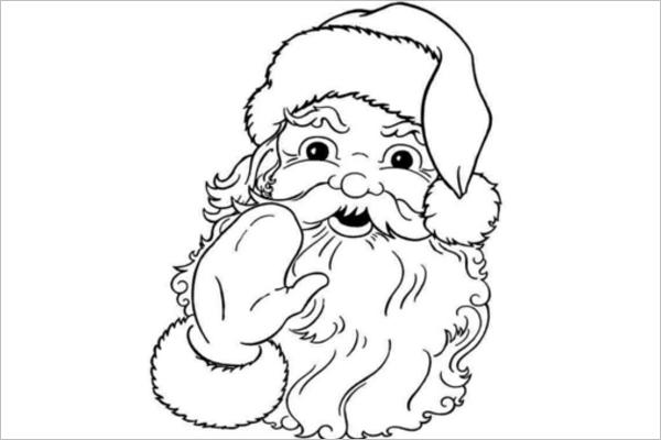 Christmas Santa Claus Coloring Template