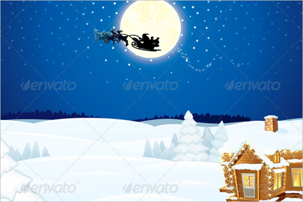 Christmas Scene Background Decoration