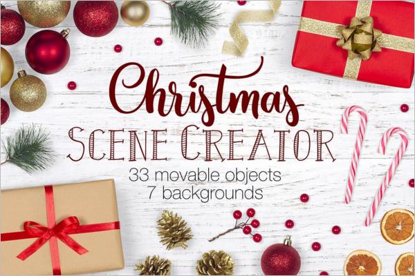 Christmas Scene Decoration Setters