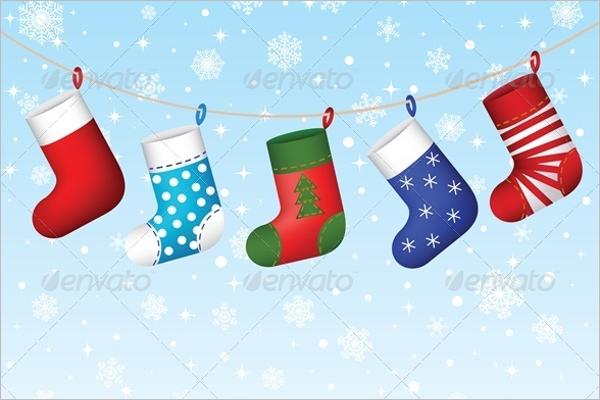 Christmas Stocking Background Design
