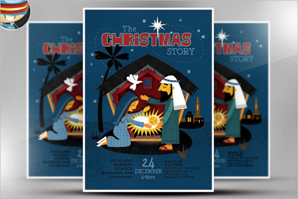 Christmas Story Poster Template